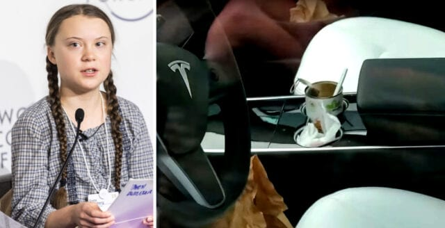 Greta Thunberg avslöjad med plastsopor i bilen under COP25