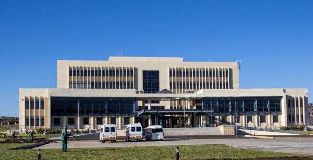 Tumultartad session i Lesothos parlament