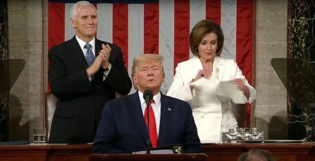 Talmannen rev sönder Trumps tal till nationen