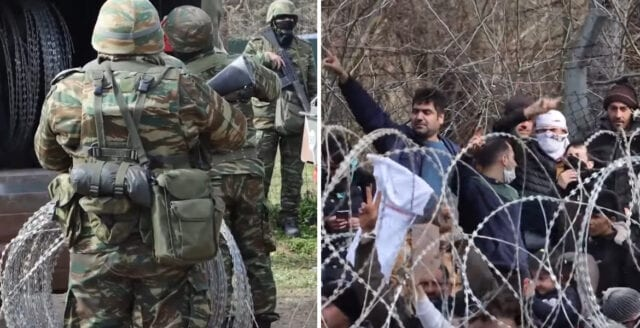 Grekland kämpar mot illegala migrantströmmar från Turkiet