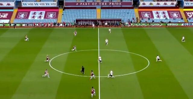 Premier League-spelare på knä för BLM-rörelsen