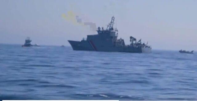 Franska marinen hjälper illegala invandrare till England