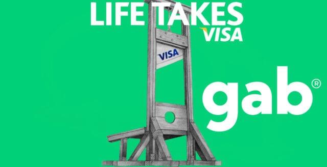 Gab svartlistas av Visa