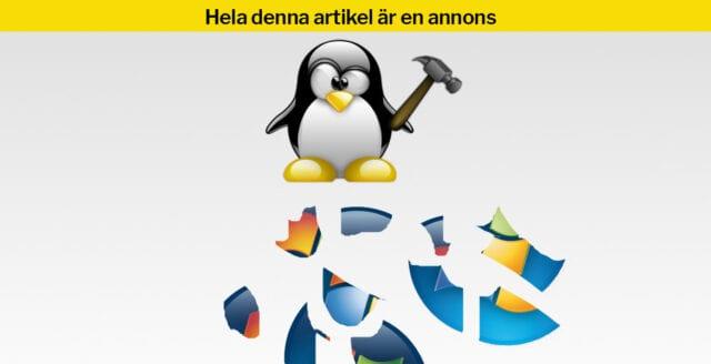 Åtta anledningar till varför Linux är bättre än Windows
