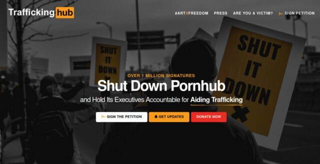 Namninsamling för att stänga ner porrjätte når över en miljon underskrifter