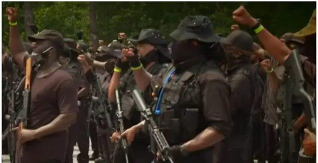 Beväpnad milis hyllar svart överhöghet och hotar vita