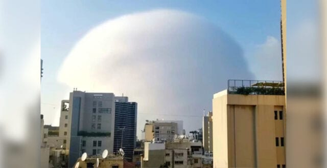 Extrem explosion i Libanon föranleder spekulationer