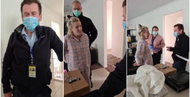 Kvinna protesterade online mot coronarepressionen – greps i hemmet