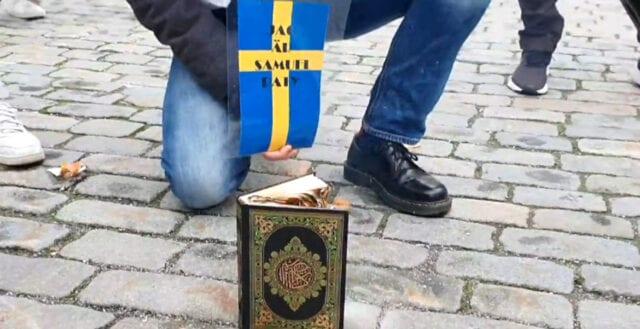 Koranbränning i Stockholm – för att hedra Samuel Paty