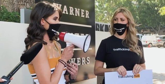 Protesterna mot porrjätten Pornhub fortsätter