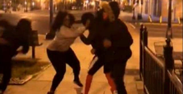 Vänsterextremister knivhögg Trumpanhängare under valnatten