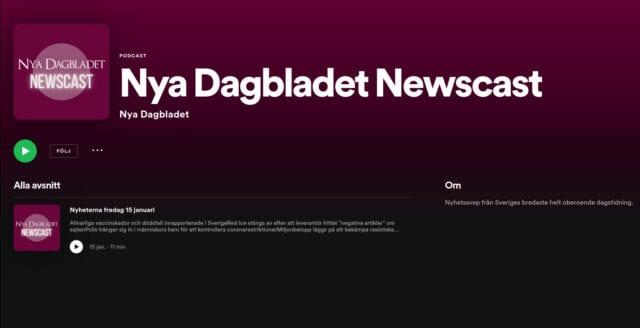 Lyssna på Nya Dagbladet Newscast – dagliga nyhetssändningar i din mobil!