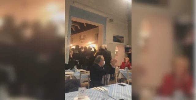 Restaurangägare trotsar nedstängningen i Italien