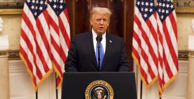 Donald Trumps avskedstal: Jag startade inga krig