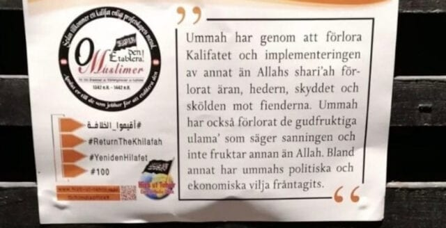 Islamister mobiliserar i nordvästra Stockholm
