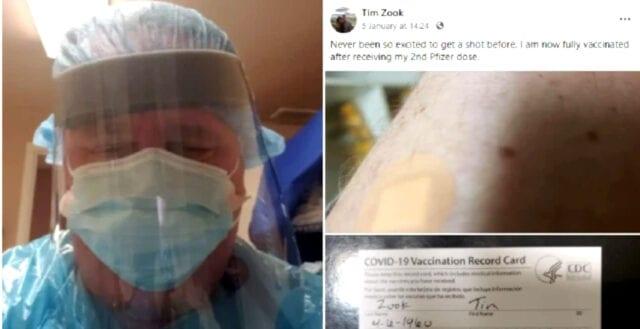 Röntgensjukskötare dog efter coronavaccination