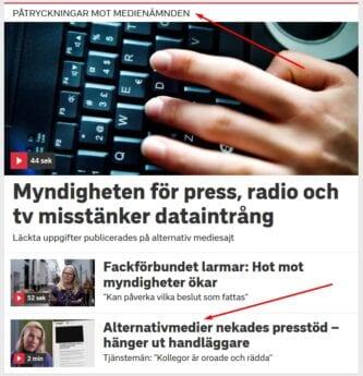 SVT Per Andersson fejkande nyheter