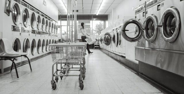 Bråk om tvättstugetid slutade i blodvite