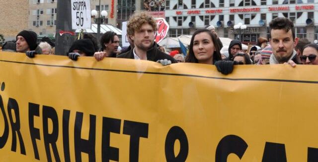 Frihetsaktivisten Filip Sjöström först i Sverige att straffas med covidlagen