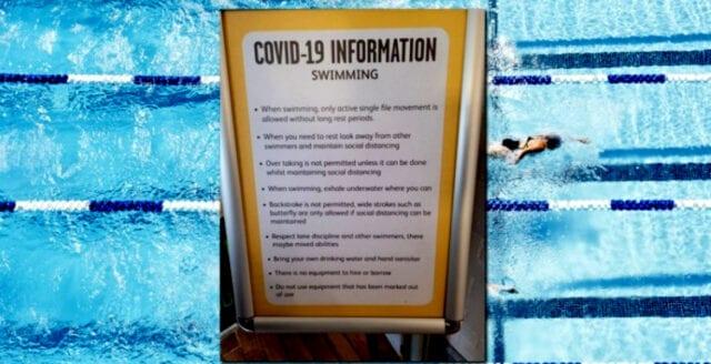 """Simmare uppmanas """"andas under vattnet"""" – för att inte sprida covid"""