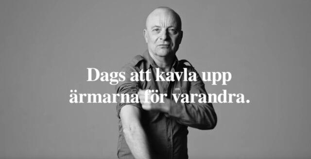 Nya propagandakampanjen: Kändisar ska övertala svenskarna att vaccinera sig