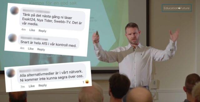 """Här skryter sektmedlemmen om """"Education4Future"""":s dominans över alternativmedia"""