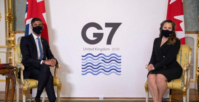 "G7 överens om ""global bolagsskatt"""