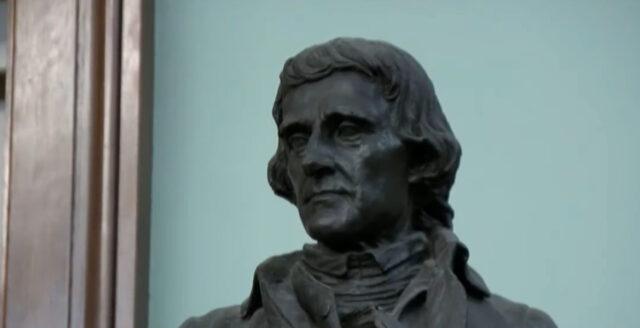 Jefferson-staty plockas bort från New Yorks stadshus